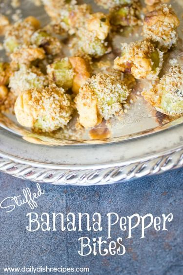 Stuffed Banana Pepper Bites and Tailgating Recipes | Daily Dish Recipes
