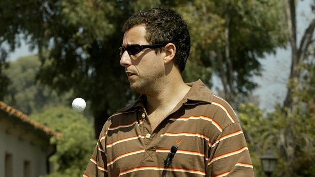 """US-Schauspieler Adam Sandler (Handicap 16) gibt auch auf dem Golfplatz nicht viel auf Konventionen. Mit seiner Hauptrolle in """"Happy Gilmore"""" machte er den Golfsport auch für anderen Bevölkerungsschichten interessant."""