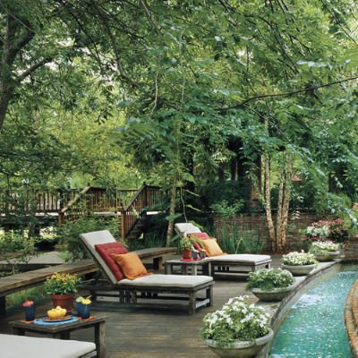Outdoor zen zonePlants Can, Chai Lounges, Lounges Chairs, Backyards Pools, Dreams, Outdoor Living, Outdoor Spaces, Gardens Outdoor, Pools Oasis