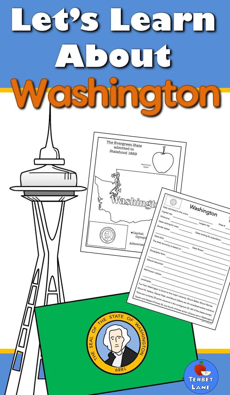 Washington State History And Symbols Unit Study Awesome Elementary