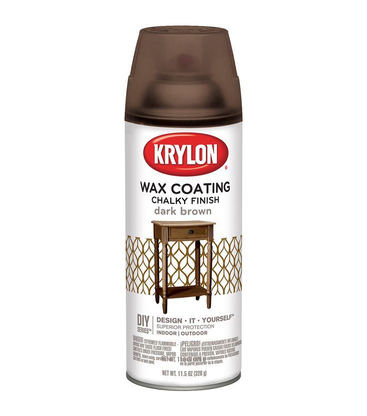Chalky Finish Aerosol Spray Paint 12oz Wax Coating - Dark Brown