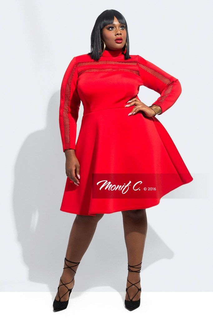 Plus Size Red Dresses for Valentine\'s Day with Sleeves | Plus Size ...