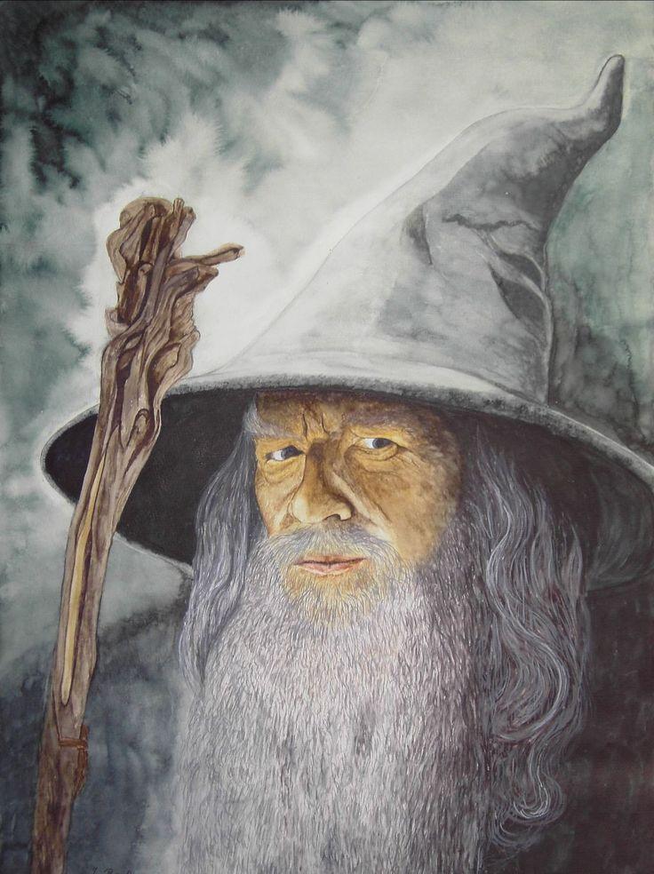Gandalf der Graue 4 gespielt von Ian Mckellen in Herr der Ringe 1 - Jutta Bachmann