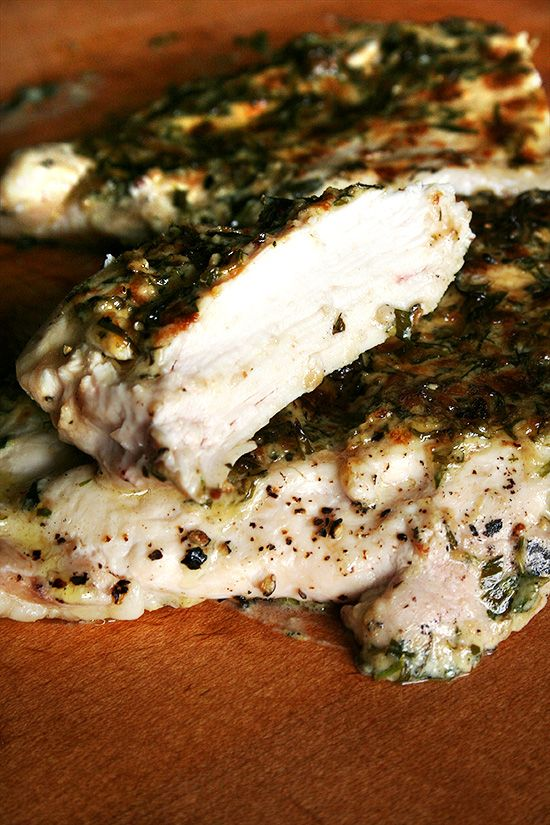 Two recipes: broiled tarragon chicken breasts, and homemade mayonnaise