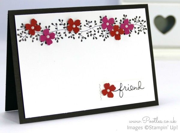 Stampin' Up! Demonstrator Pootles - Simple card for a friend, inspired by... my hair