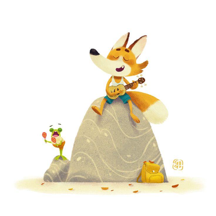 ArtStation - Fox & Flog Sing a Song, Gop Gap