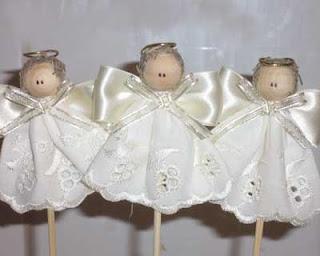 angelitos centro de mesa