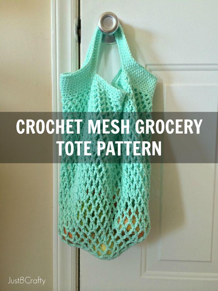 Crochet Mesh Grocery Tote PatternJane Carney