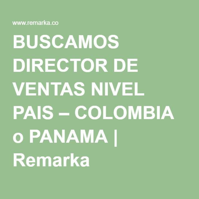 BUSCAMOS DIRECTOR DE VENTAS NIVEL PAIS – COLOMBIA o PANAMA | Remarka