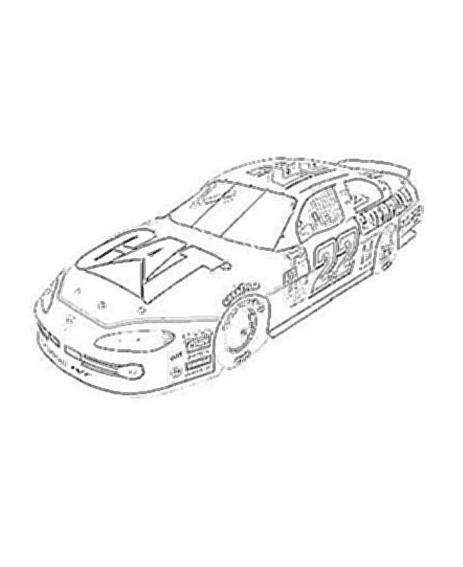 Printable Nascar Coloring Pages | Race car coloring pages ...