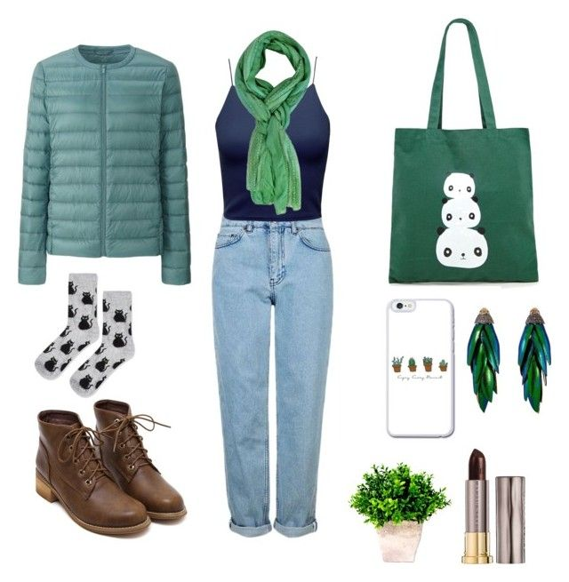 """Green Love"" by mariapauladiaz142 on Polyvore featuring Forever 21, Uniqlo, Topshop, Bibi and Urban Decay"