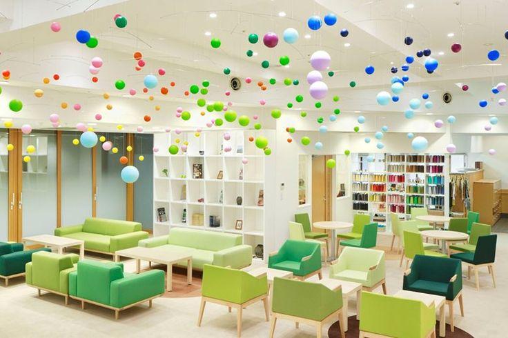 Nursing Home Shinjuen , Kawagoe, 2014 - emmanuelle moureaux architecture + design Concept: Danse Bubbles  Soins infirmiers à domicile Shinjuen est au milieu de l'épanouissement verdoyant, situé à Kawagoe-ville, la préfecture de Saitama, près de Tokyo. Il s'agit d'un établissement désigné de fournir des services de soins infirmiers pour les personnes âgées