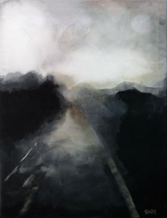 Szüts Miklós, cím nélkül, 2011/19, akvarell, papír (fa kereten), 130 x 100 cm, magántulajdon