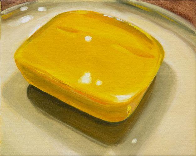 Cheese XXVii, oil on linen, Sally Kindberg, 2013