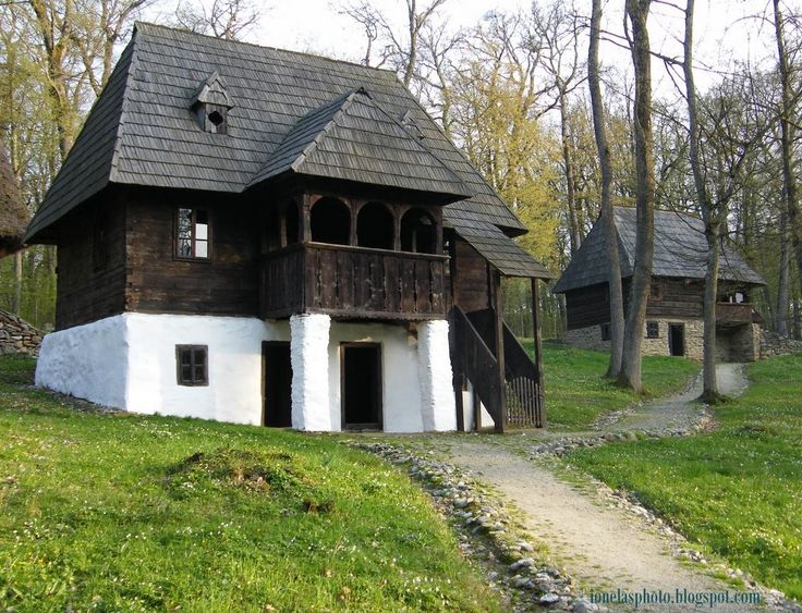 A traditional Romanian house. This kind of houses can be found in the north zone of Romania.