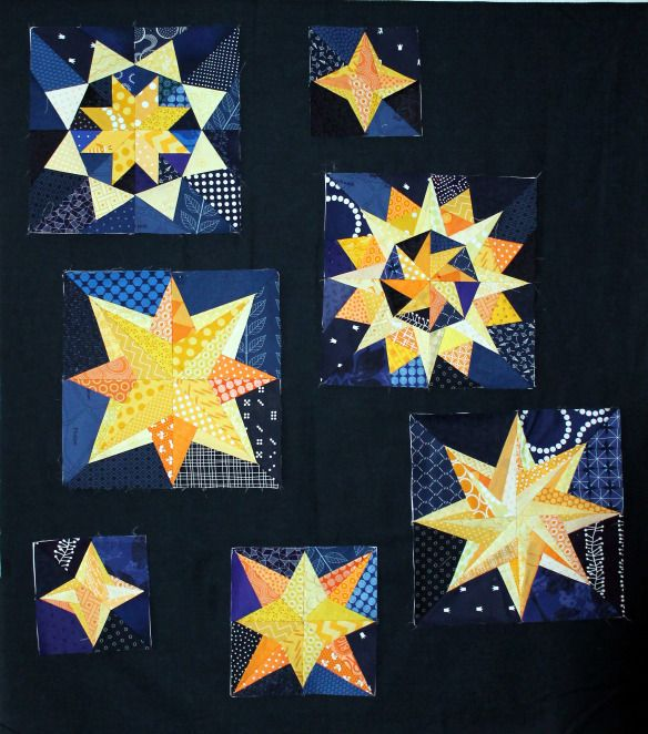 17 Best Images About Starry Night Quilt On Pinterest