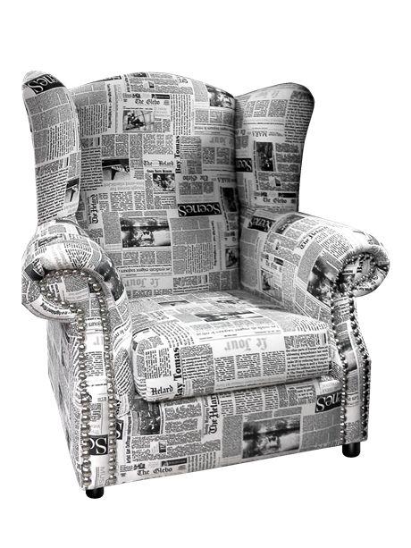 Μπερζέρα Newspaper#mperzera#chair#design#old#classic#