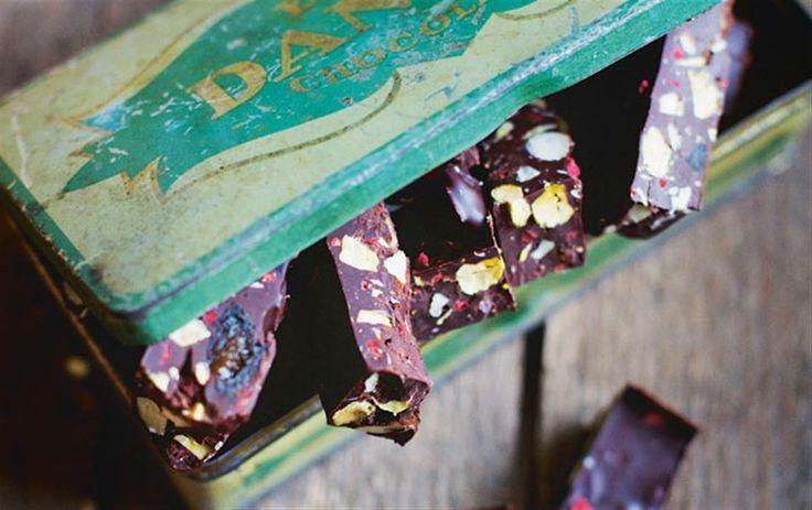 Rocky road med mørk chokolade