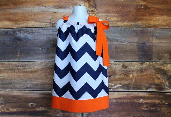 Navy Chevron Dress Pick Trim Color  by DoodlebugsDrumsticks, $21.99