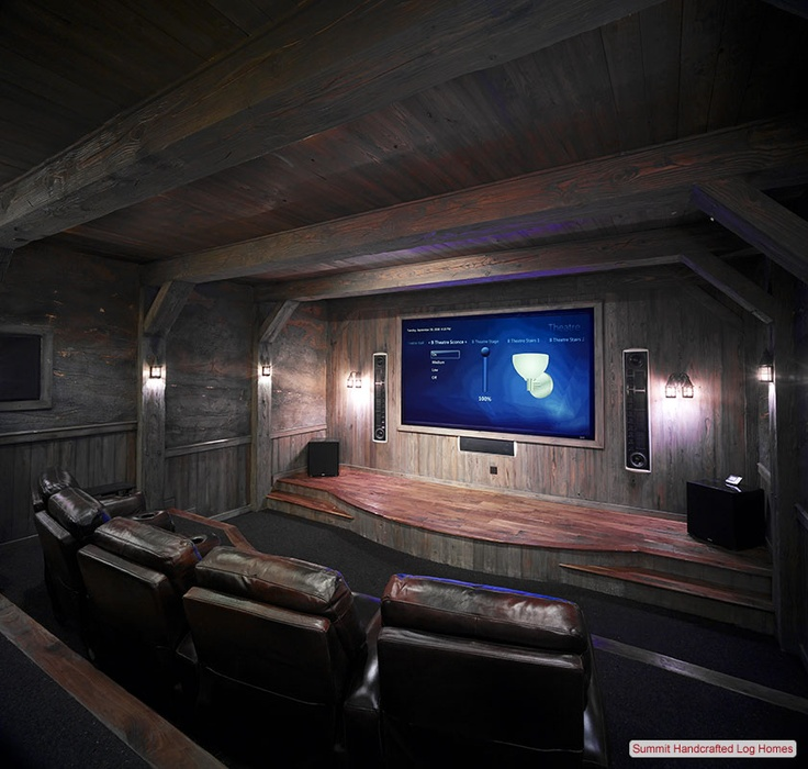 Movie Room Ideas like this for the basement. rustic movie room   cute ideas
