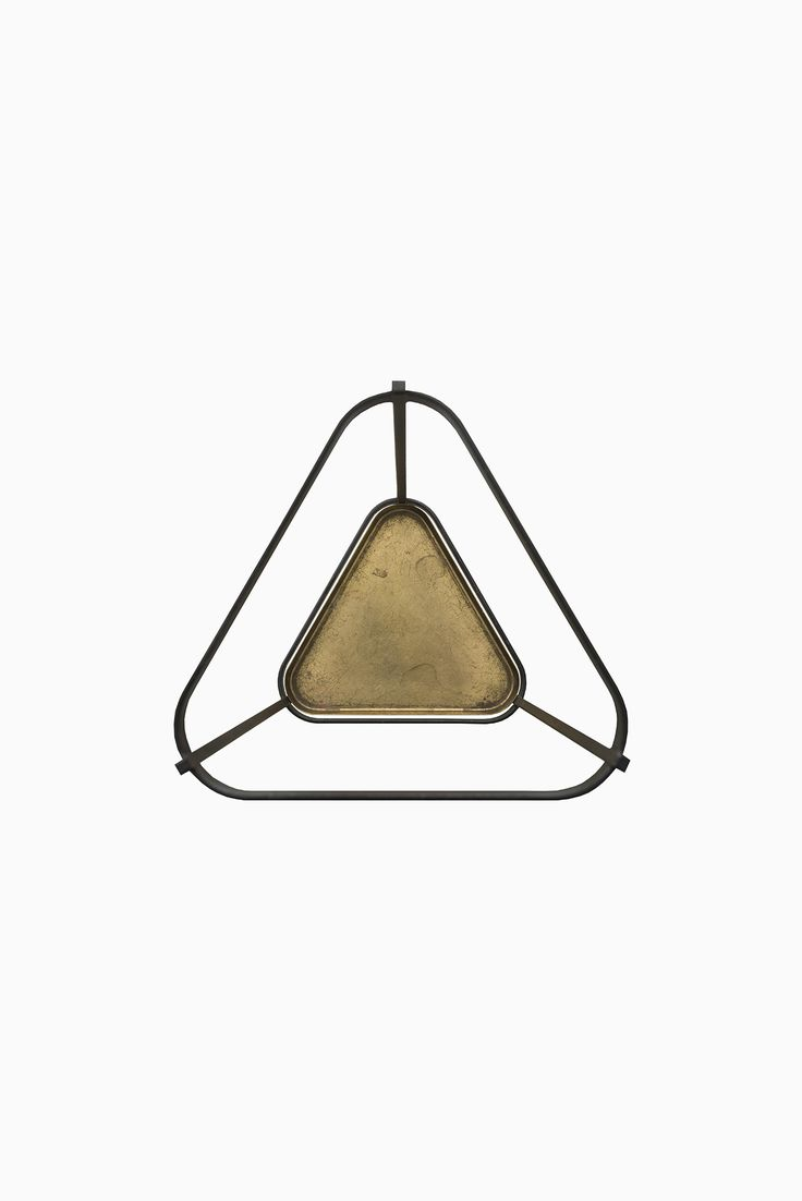 Rare umbrella stand in wrought iron and brass designed by Gunnar Ander and…