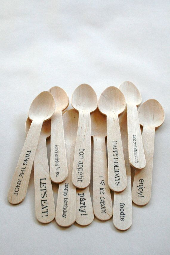 Disposable and Compostable Crafty Wooden Utensils by InTheClear