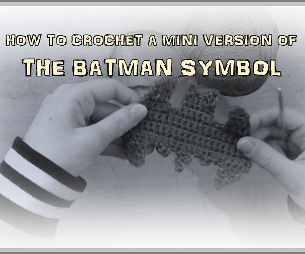 How to Crochet a Mini Version of the Batman Symbol by TheSamAntics.  Be sure to check out my other tutorial on a bigger version of the Batman symbol at TheSamAntics.com!