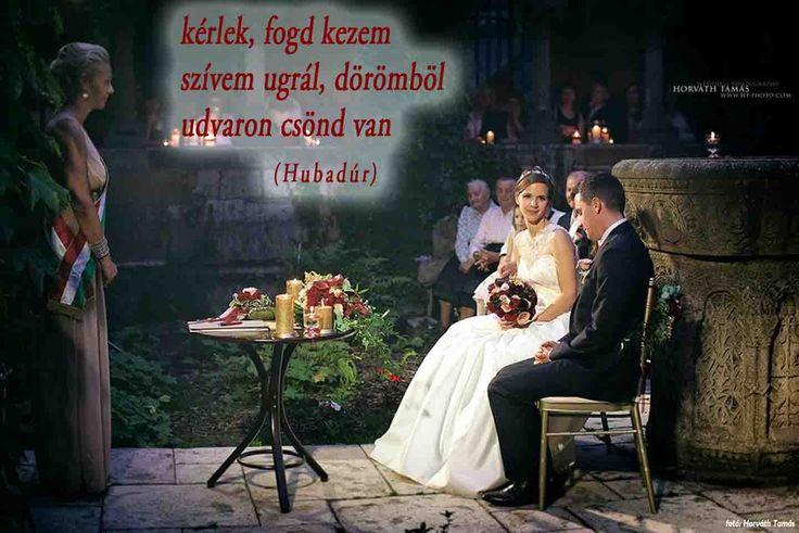 Esküvői haiku (Hubaiku) /A haikut írta: Street Gábor Huba meglepetésdalos ceremóniamester; Fotó: Horváth Tamás/