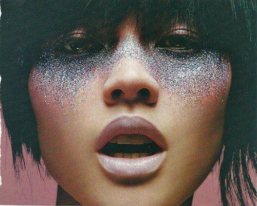 silvery glitter