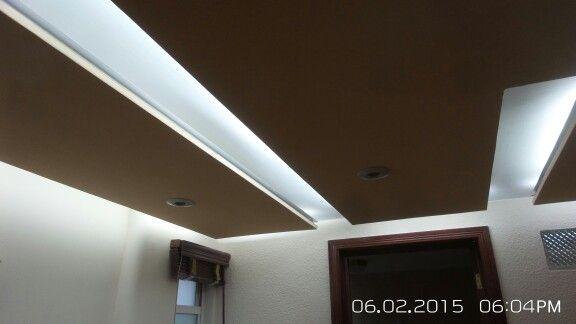Plafones tablaroca con luz indirecta sala pinterest - Plafones para techo ...