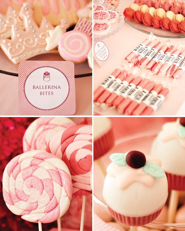 Pink party goodies: Sweet Treats, Pink Party, Ballet Party, Nutcrackers Ballet, Party Idea, Nutcrackers Party, Beauty Kids, Ballerinas Party, Birthday Party