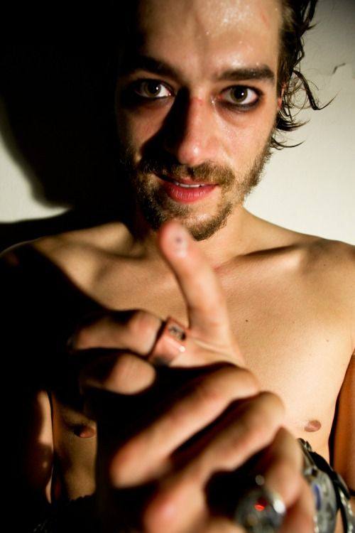 Xander Corvus. I'm diggin the guyliner Photo by Michael Vegas