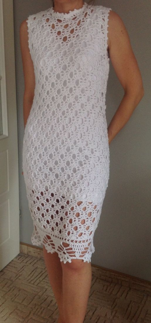 Beautiful White crochet dress…lovely pattern