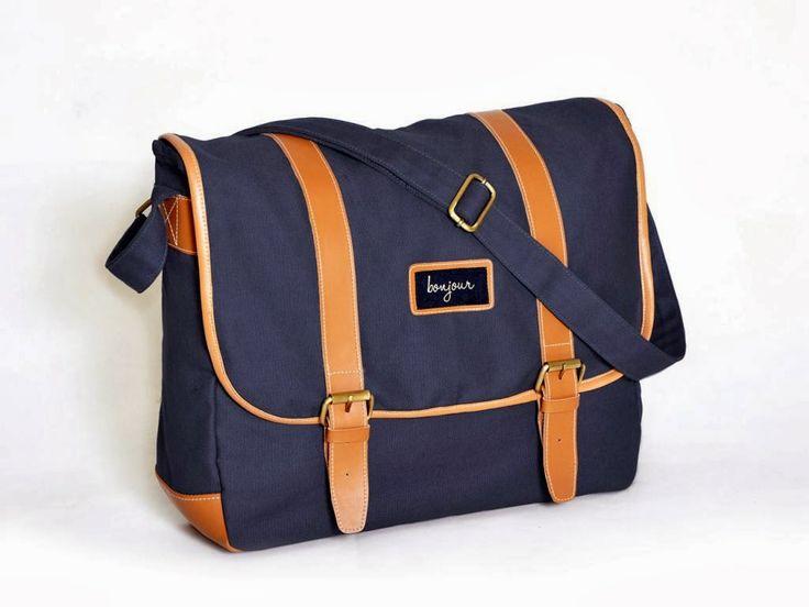 """Jual Tas Laptop Slempang 1 laptop sleeve, ukuran sampai dengan 14 """" 1 saku belakang 1 dalam saku Tali bahu dapat disesuaikan"""