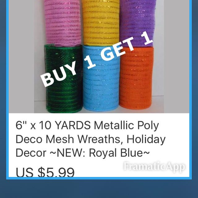BUY 1 GET 1 FREE SALE  3 DAYS ONLY  Over 85 Items included in this BOGO SALE LIMITED SUPPLIES (MIX AND MATCH! Add any two bogo items to the cart and the lowest price item will be #FREE (Must add two to cart to get free one) http://r.ebay.com/JOzvyG  #DECOMESH , WIRE #WREATH FRAMES #FLORAL FOAM! #pga #familyfeud #political #party #event #july4th #fourthofjuly #ncis #sportscenter #cnn #crafts #event #planner #fox #gma #today #thismorning #golf #priceisright #letsmakeadeal #700club #qvc #nyc…