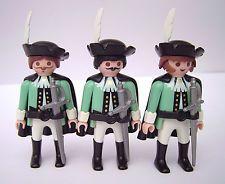 Playmobil 3 Musketiere Wache Garde Fechter Adel Franz. Soldaten Custom