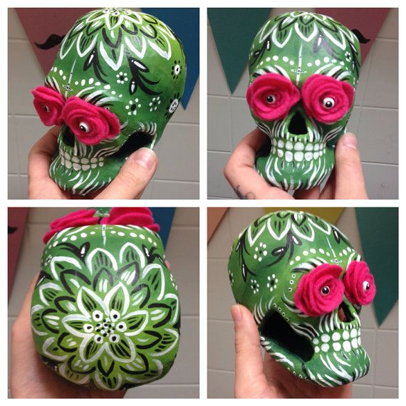 how to make sugar skulls out of papier mache