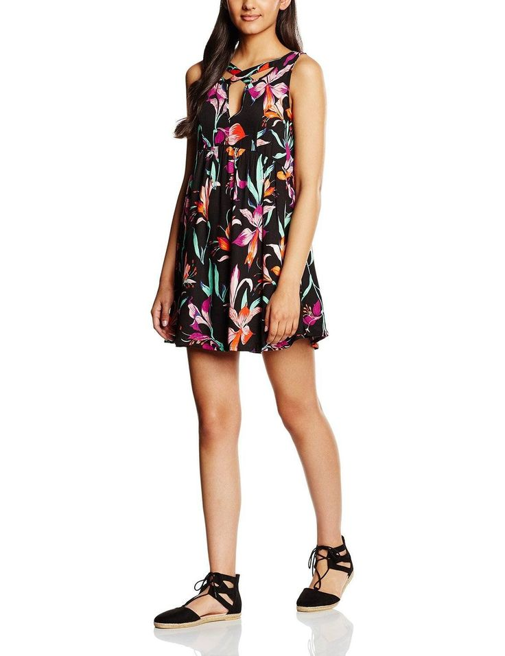 Vestido ropa hipster mujer sin mangas con diseño estampado floral multicolor, ideal para esta primavera - verano.