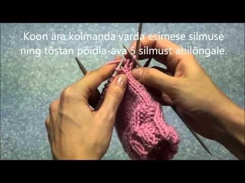Kudumine - kinnas - pöidla-ava - YouTube