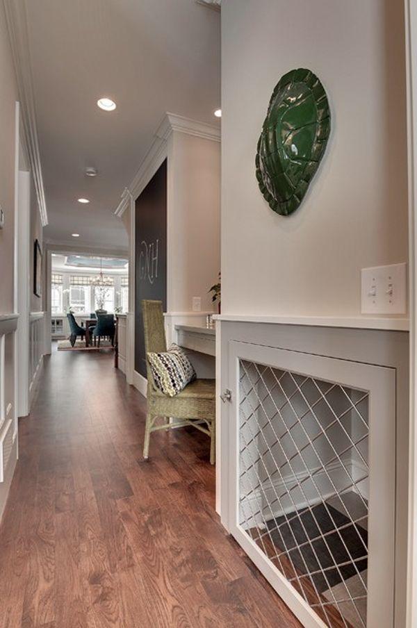 Door idea. 25 Cool Indoor Dog Houses