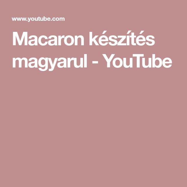 Macaron készítés magyarul - YouTube