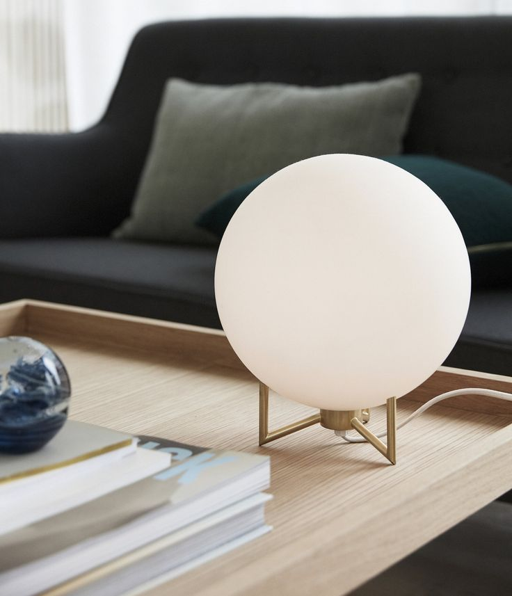 object hubsch white gold globe lamp