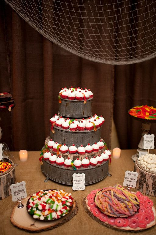 Groom S Table Fishing Theme Candy Buffet By Www Dressydesigns Jewelcolephotography Buffets Dressy Designs Pinterest Wedding
