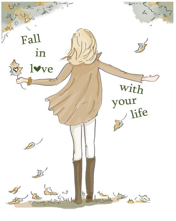 Fall in Love With Your Life Art for Women by RoseHillDesignStudio