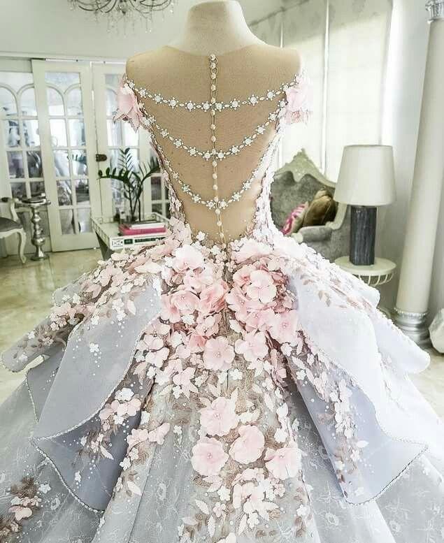 Closeup of #floral #ballgown