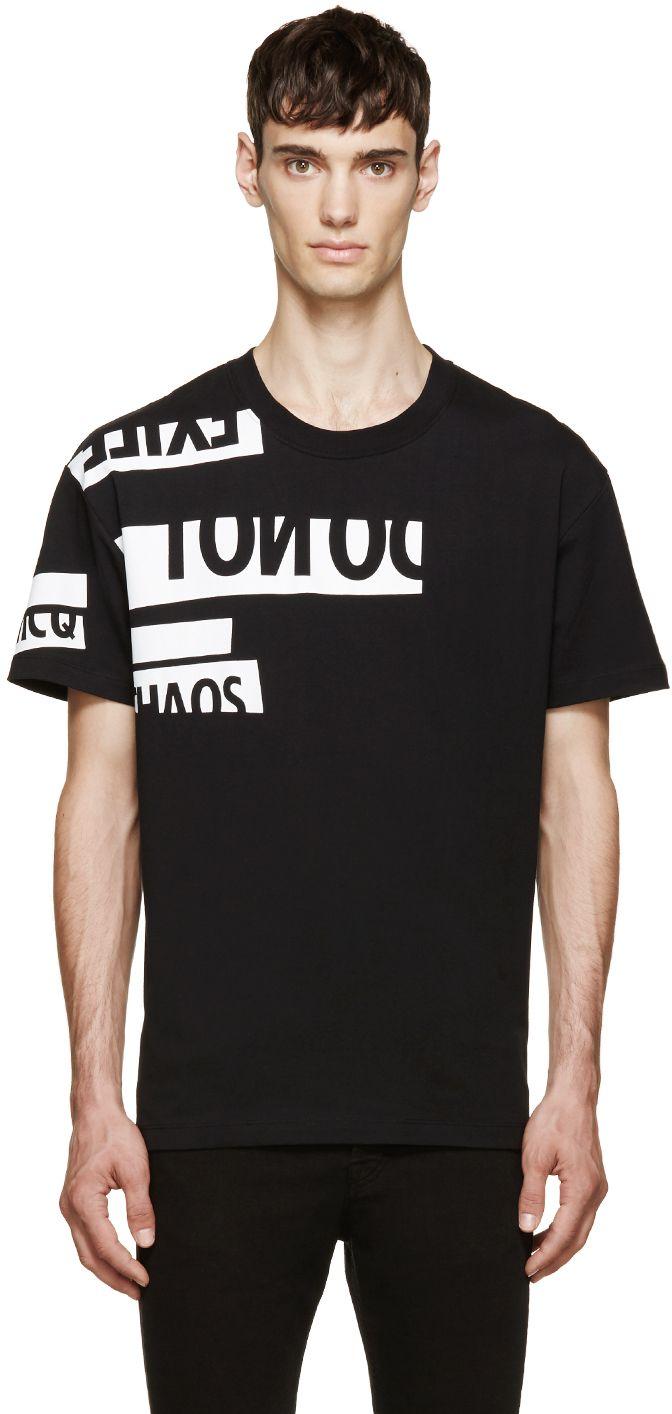Mcq Alexander Mcqueen: Black & White Chaos T-Shirt