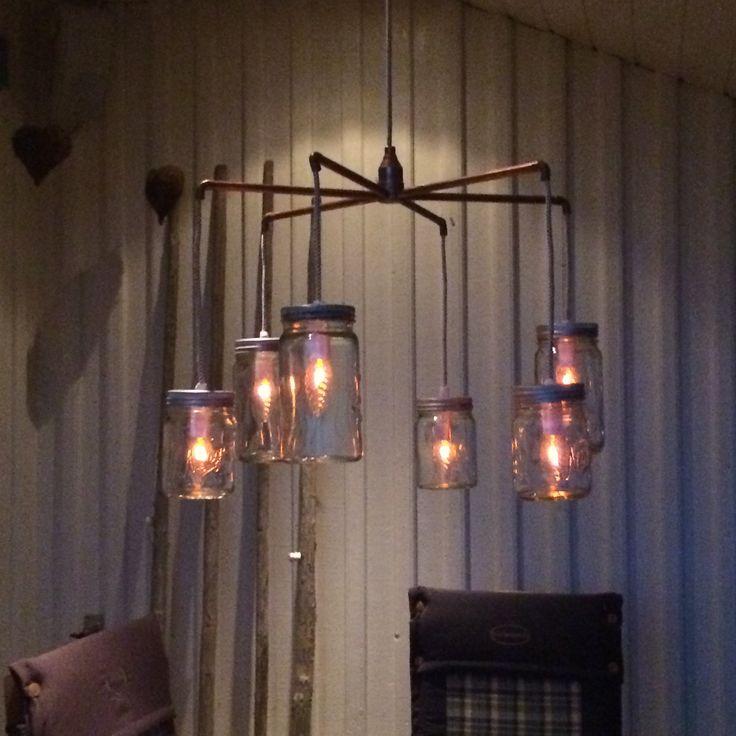 Hjemmelaget Norgesglasslampe...