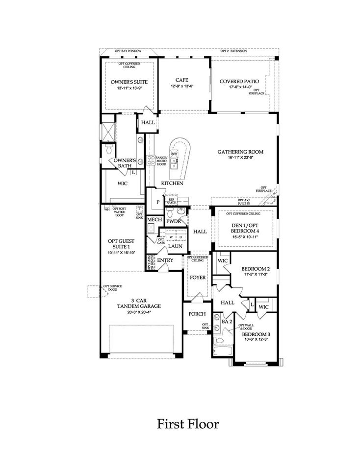 Pulte home parklane model 2449 sq ft lots of options Model homes floor plans