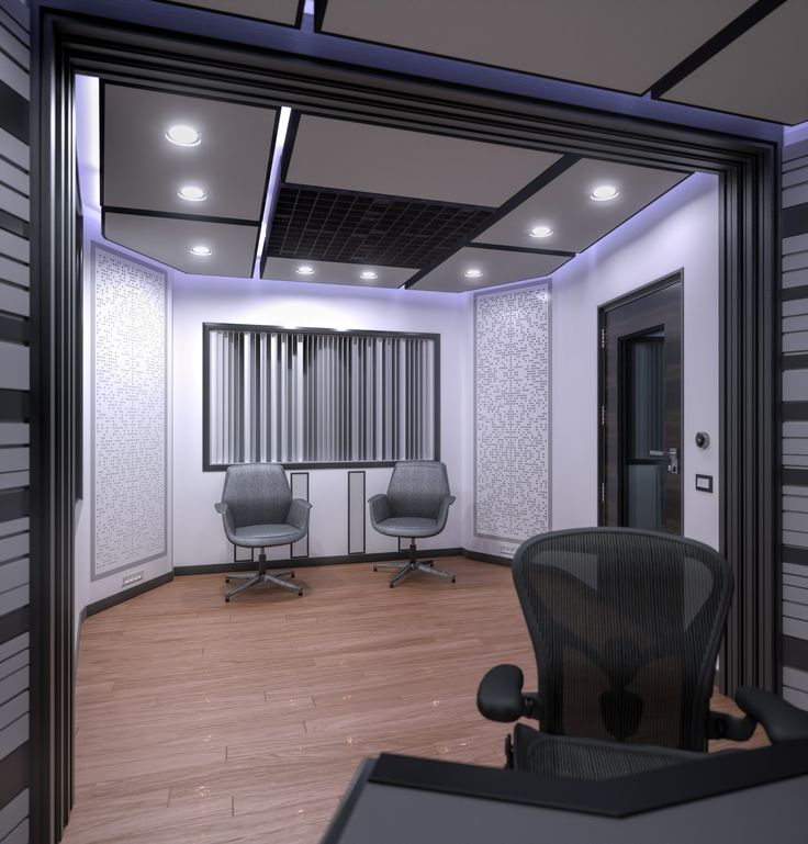 Music studio.Writing Room. Дизайн студии звукозаписи