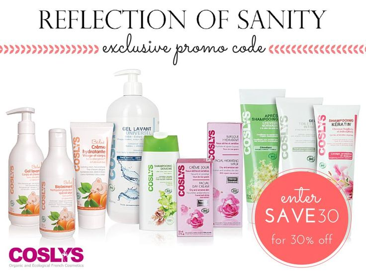Reflection of Sanity: BEAUTY NEWS: Coslys Canada Promo Code